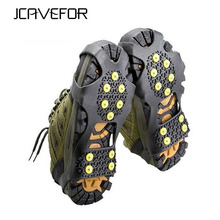 1 Pair Hot Sale 10 Studs Anti-Skid Snow Ice Climbing Shoe Spikes Grips Crampons Cleats Overshoes(China)