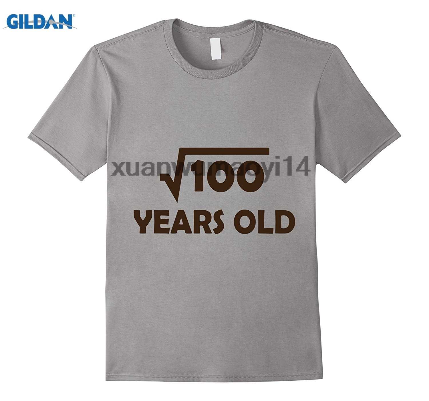 GILDAN Birthday Shirt For 10 Year Old Boy Or Girl 100 Square Root