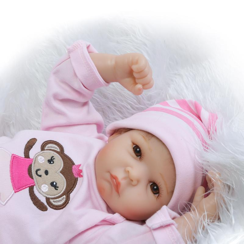 50CM Soft Silicone Reborn Baby Doll Toy 20inch Newborn Girl Babies Doll Lifelike Birthday Gifts For Kid Child Play House Toy 55cm silicone reborn baby doll toy lifelike npkcollection baby reborn doll newborn boys babies doll high end gift for girl kid