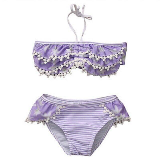 1c622d5f980739 Nieuwe Peuter Kids Baby Meisjes Halter Ruches Tassel Tankini Bikini Set  Strand Badmode Badpak Badpak Beachwear