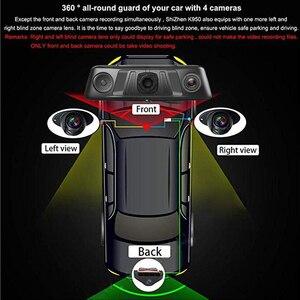 "Image 3 - WHEXUNE 10 ""اللمس ADAS أندرويد 5.1 كامل 1080P كاميرا عدادات السيارة 4G مسجل فيديو مرآة الرؤية الخلفية مع كاميرا DVR 8 الأساسية 4 قناة"