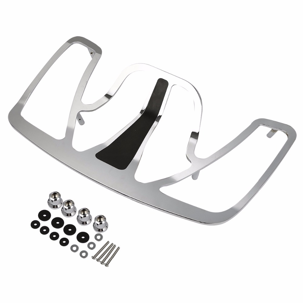 Chrome Trunk Luggage Rack Aluminum For Honda Goldwing GL1800 GL 1800 2001 2017 motorcycle accessories