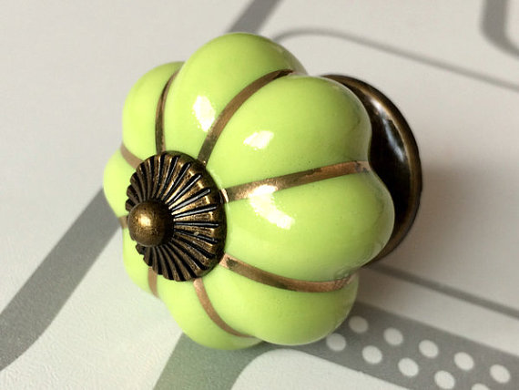 Green Pumpkin Knobs Kitchen Cabinet Knobs Dresser Knob