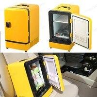 12 V Carro Frigorífico 7L Mini Portátil Casa de Viagem de Acampamento Auto Geladeira Dupla Utilização Congelador Refrigerador Mais Quentes