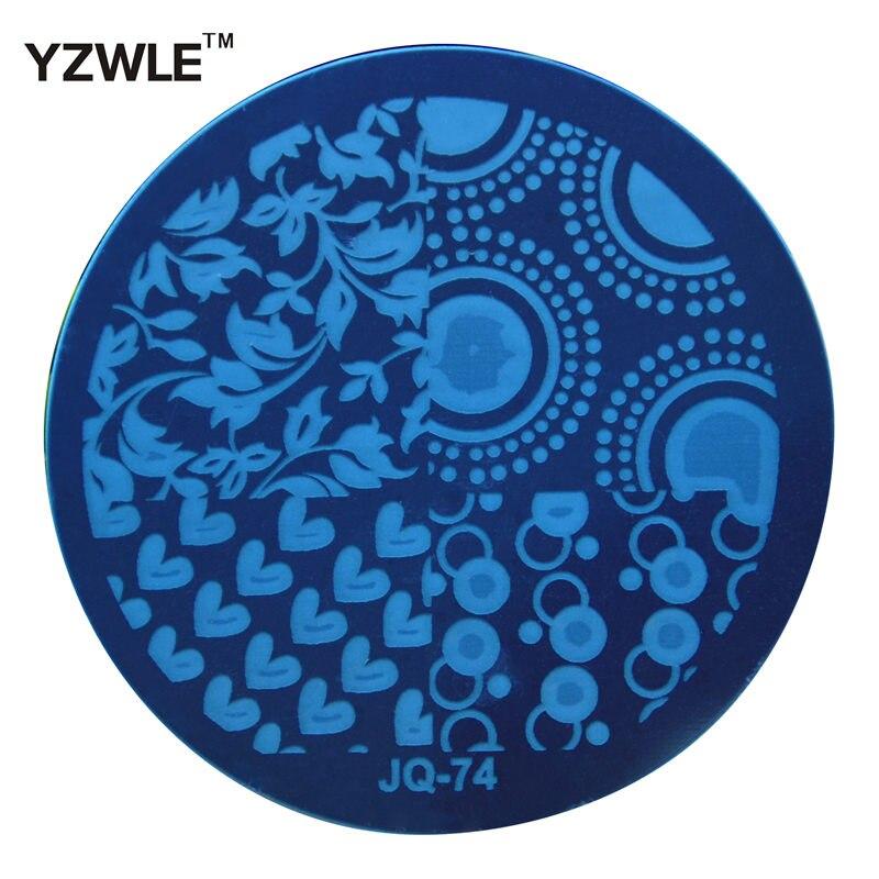 9ce998e1de WUF 1 unid DIY Nail Art corazón flor Stencils estampado Plantilla de  impresión imagen placas (JQ-74)