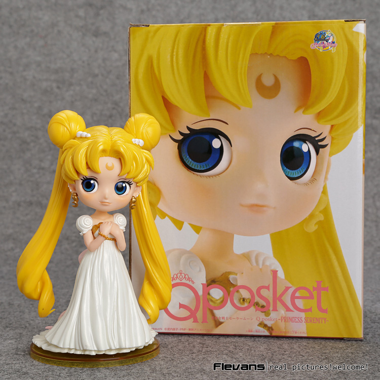 Sailor Moon Q Posket Tsukino Usagi Princess Serenity PVC Action Figure Collectible Model Toy 15cm 2 Styles SAFG046 alice q posket characters alice alice in wonderland pvc figure collectible model toy doll 15cm