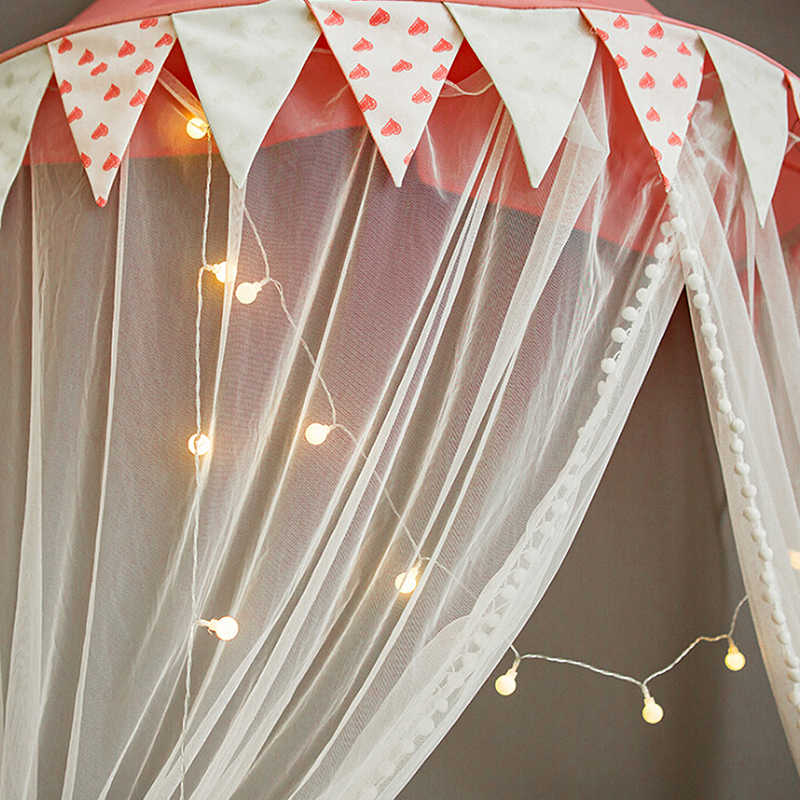 Baby Girls Canopy Mosquito Net Anti Mosquito Princess Bed Canopy Girls Room Decoration Bed Canopy Pest control Net Dropship J11