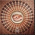 1.5 m * 1.5 m Fotografia Prop para Recém-nascidos Fundo Mandala Mandala Tapeçaria Tapeçaria Pavão Roundie ohemian Praia Cobertor Círculo