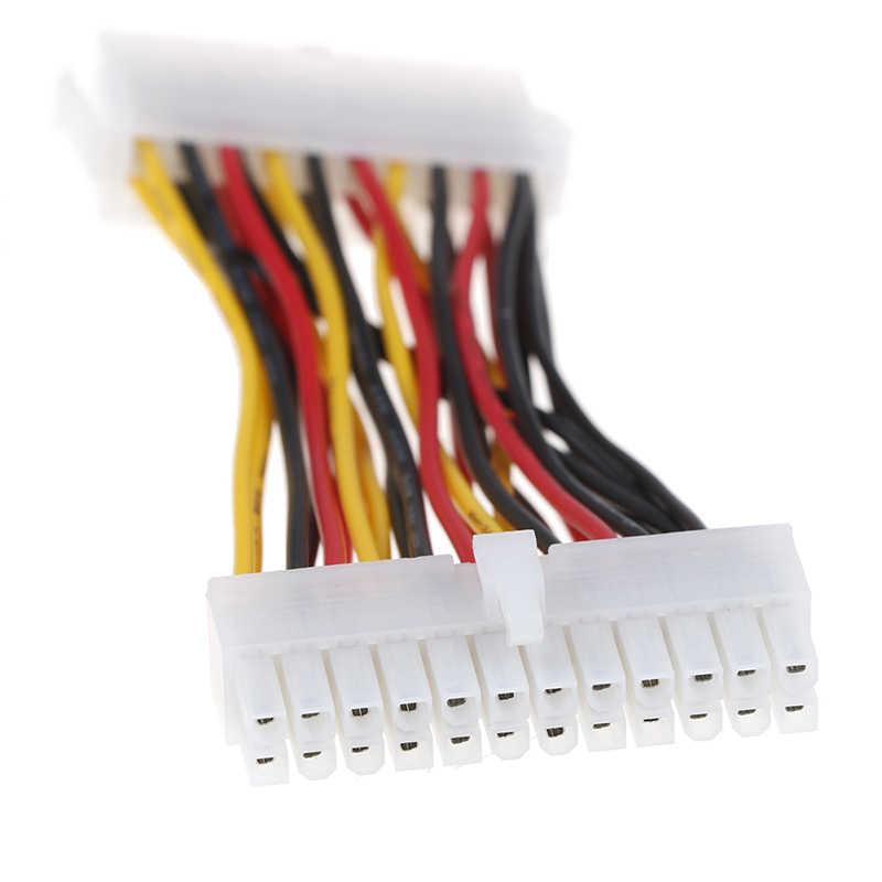 E-ATX 20 Pin female to 24 Pinos macho F/M cabo adaptador de alimentação motherboard venda Quente