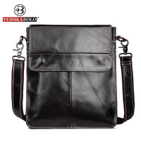 FEIDIKA BOLO Brand Vintage Messenger Bag Men Leather Men Messenger Bags Crossbody Shoulder Bag Genuine Leather Bags