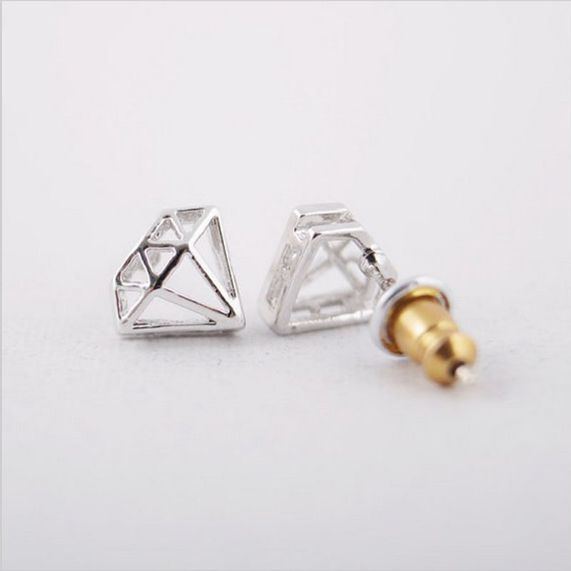Wholesale 10 Pairs Fashion Convex Geometry Stud Earrings Fashion Women Diament Ear Jewelry Accessories Free Shipping