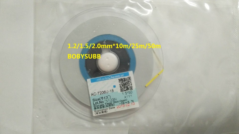 ACF AC-7206U-18 TAPE For LCD Screen Repair 1.2/1.5/2.0mm*10m/25m/50m original acf ac 11800y 16 1 0mmx100m tape