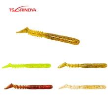 TSURINOYA 10Pcs Artificial Fishing Lure 70mm 2.35g Soft Lure Worm Swimbait Jig Head Fly Fishing Silicon Rubber Fish Para Pesca цена 2017