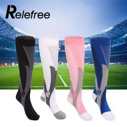 Relefree men women leg support stretch outdoor sport socks knee high compression socks men running snowboard.jpg 250x250