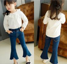 2017 Fashion Girls Pants Clothing Children Fashion Jeans Children s bell pants Children s jeans