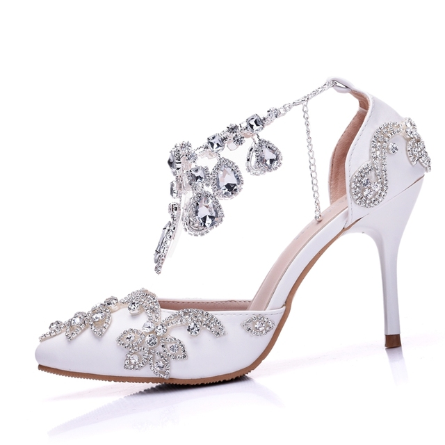 Товар Crystal Queen Sandals Woman Wedding Shoes Bride High Heels ... 6d46186bccc6