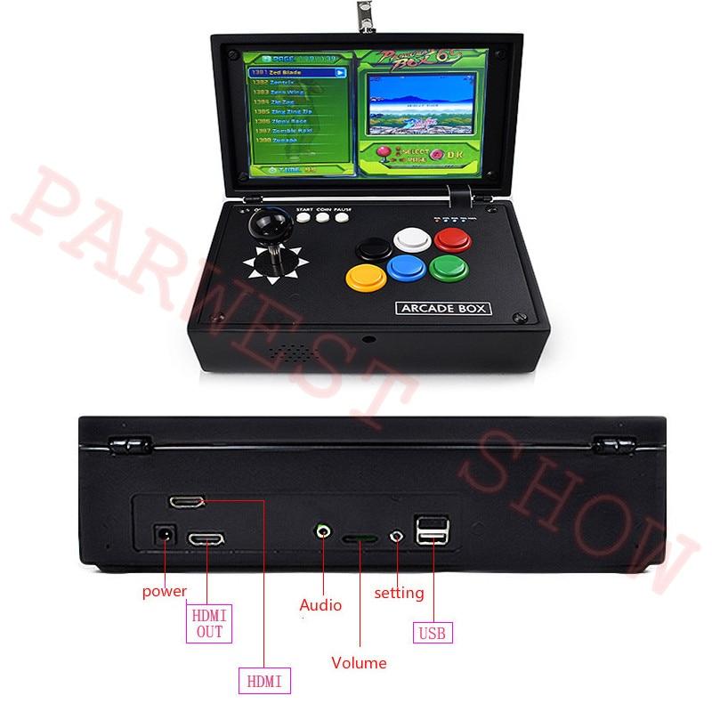10 inch Box 6S arcade joystick machines video game console multi games 1388 in 1 DIY mini arcade game console - 6