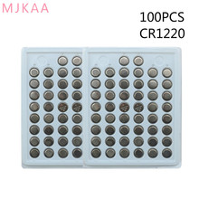 100pcs 100% New CR1220 3V Lithium Button Cell Batteries Watch Coin Battery Car Remote Control ECR1220 LM1220