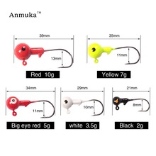 2016 New Anmuka Jig Hooks 1g 2g 3.5g 5g 7g 10g 14g 20g Lead Head Jigs With Single Hook Pesca Accessories Sea Fishing Enquipment