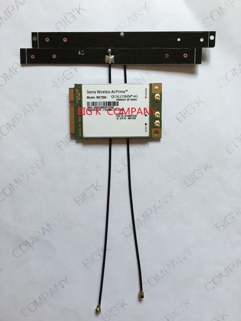 Sierra wireless MC7354 +2PCS 19CM 4G LTE antenna PCI-E 4G  LTE HSUPA HSDPA UMTS WCDMA  GNSS module support GPS 100% NEW&Original