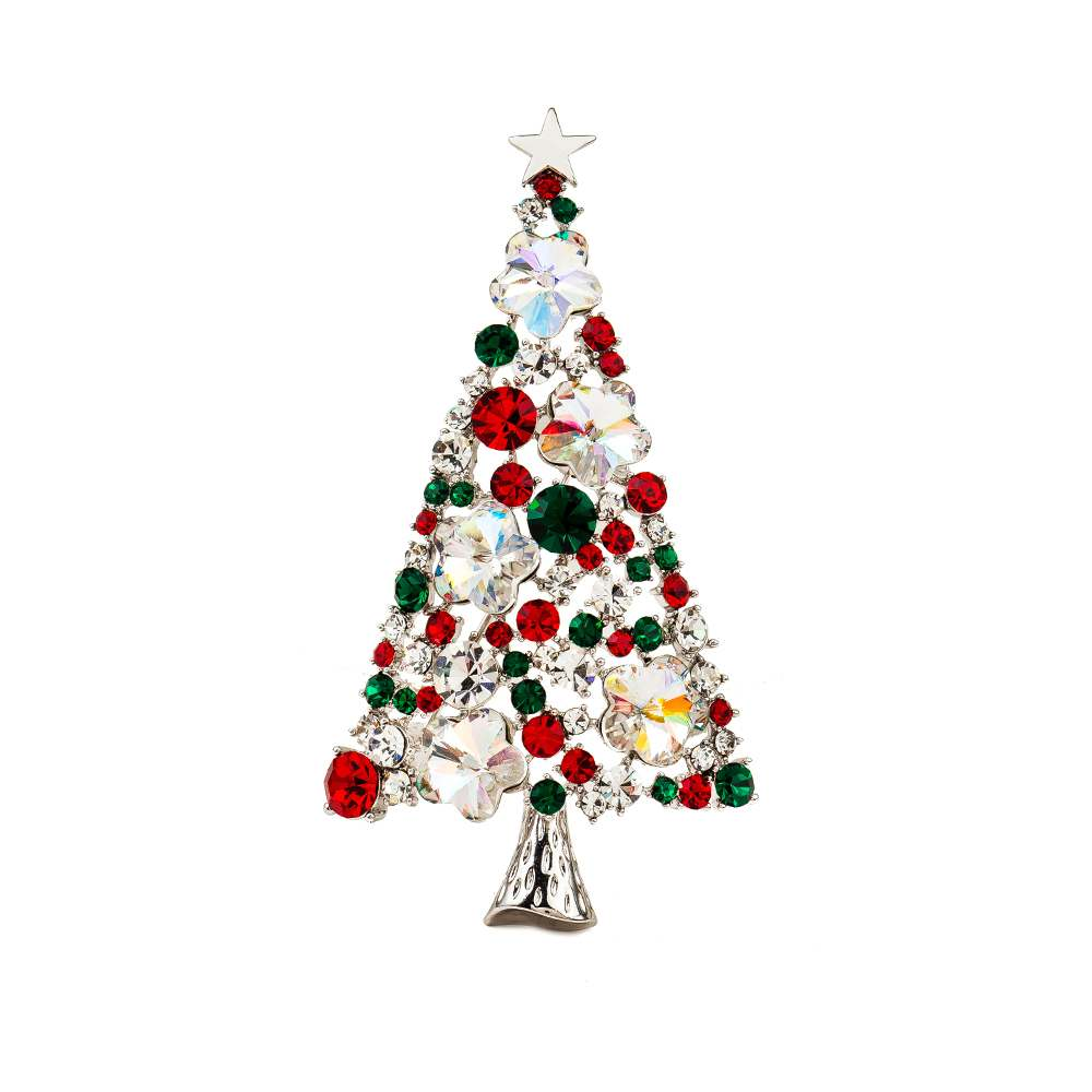 ᑎ‰High Quality Fashion Silver Christmas Tree Design Brooch Jewelry ...