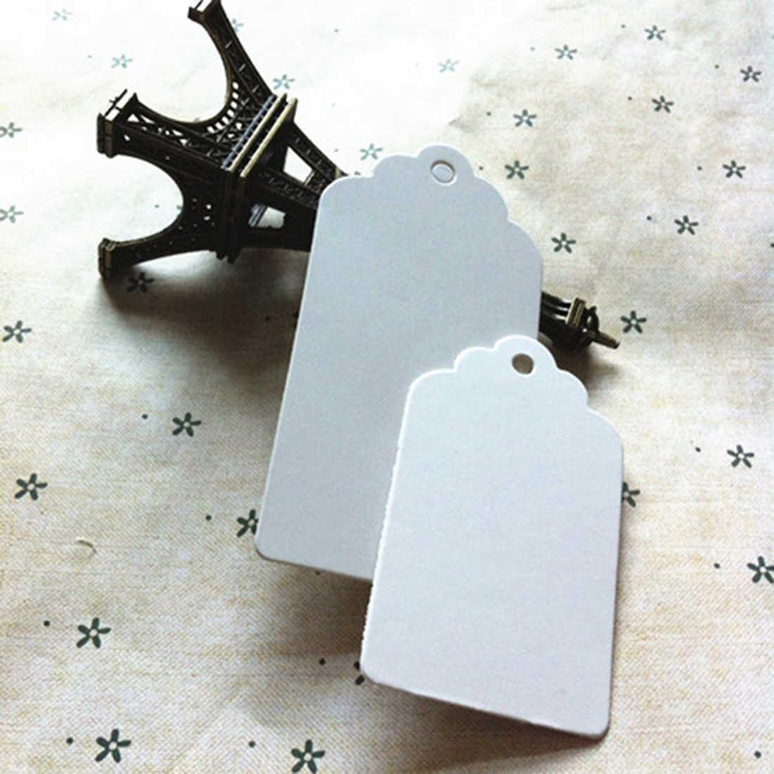 กระดาษสีขาวเสื้อแขวนป้ายงานแต่งงานฉลากบัตรของขวัญด้านบนPapularที่มีประโยชน์DIYน่ารักชอบ5*5เซนติเมตร10ชิ้น
