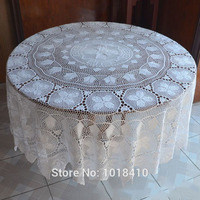 240cm 94 48 Round Handmade Crochet Lace Crochet Much Dining Table Cloth Round White