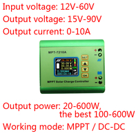 Mppt Solar Controller 24v48v Solar Panels Automatic Step Up Charge Battery Charger