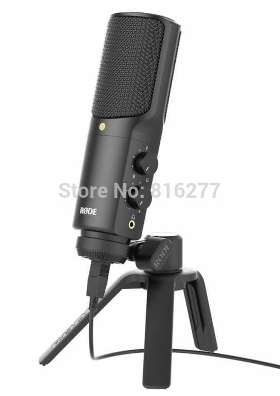 Original NT-USB professional condenser recording microphone USB computer mic support ios with Pop Filter and table stand цена