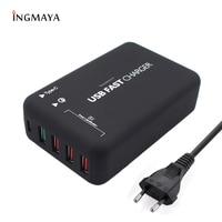 INGMAYA Quick Charge 3 0 USB Ladegerät 5 Port 6A Typ C Ladestation Für iPhone iPad Samsung Huawei Xiaomi LG sony AC Adapter