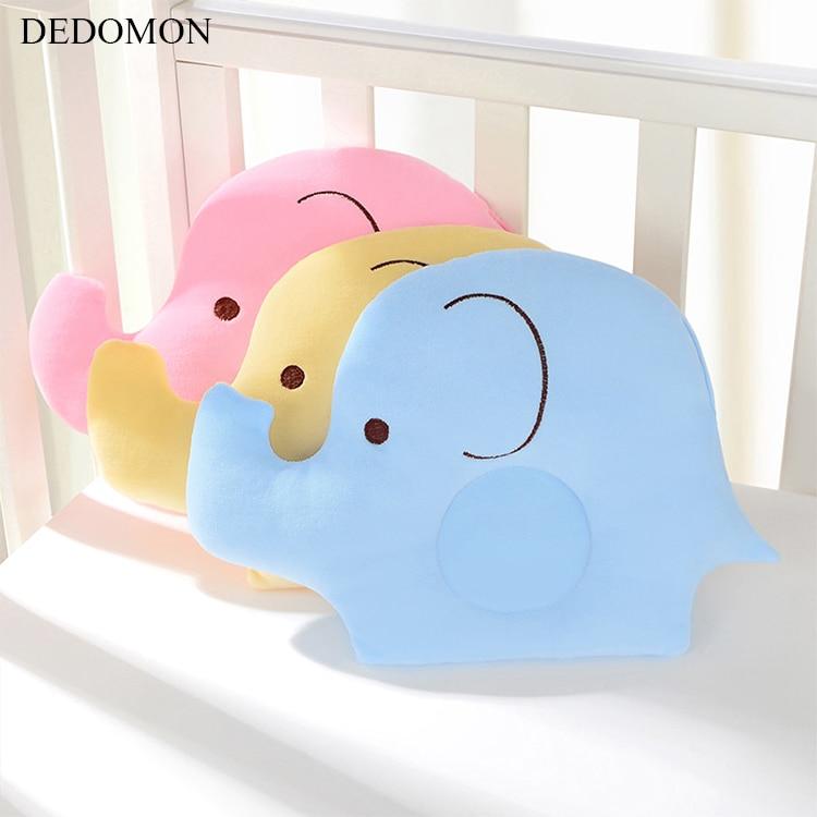Belle bande dessinée bébé façonnage oreiller doux coton sommeil tête positionneur Anti-renversement éléphant tête Protection nouveau-né cadeau soutien