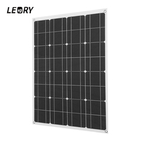 LEORY 80W 12V Solar Panels Solar City Semi Flexible Solar System Module DIY For Camper RV