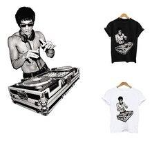 Bruce Lee – patchs thermo-autocollants à rayures sur vêtements, application d'un fer sur transferts pour vêtements, patch thermosensible
