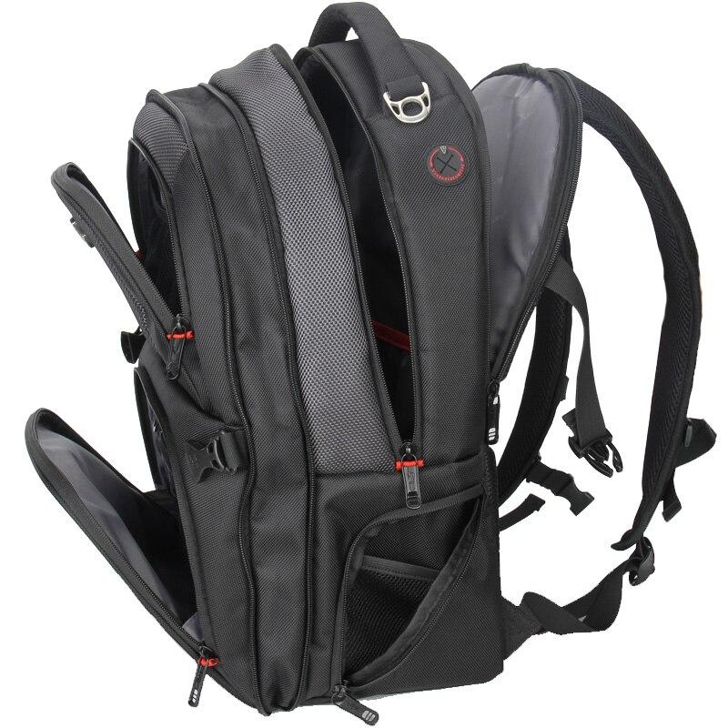 TINYAT Factory Store 17 inch ballistic nylon laptop backpack USB Recharging men/large capacity back pack /antitheft backpack