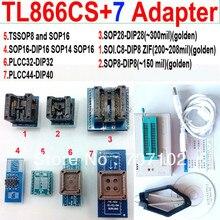 TL866CS Programmer +7 adapters PLCC extractor TL866 tl866cs PIC Bios 51 MCU Flash EPROM programmer Russian English Manual