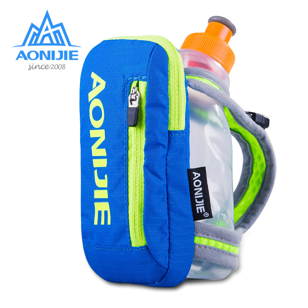 AONIJIE E907 Running Hand-free Hand-held Water Bottle Holder Wrist Storage Bag Hydration Pack Hydra Fuel Flask Marathon Race