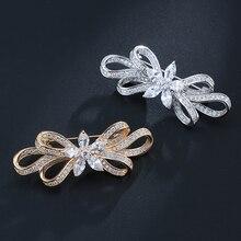 Honghong кубические циркониевые шпильки и высококачественные Броши изогнутые Броши для женщин Свадебное платье модные ювелирные изделия WX8090