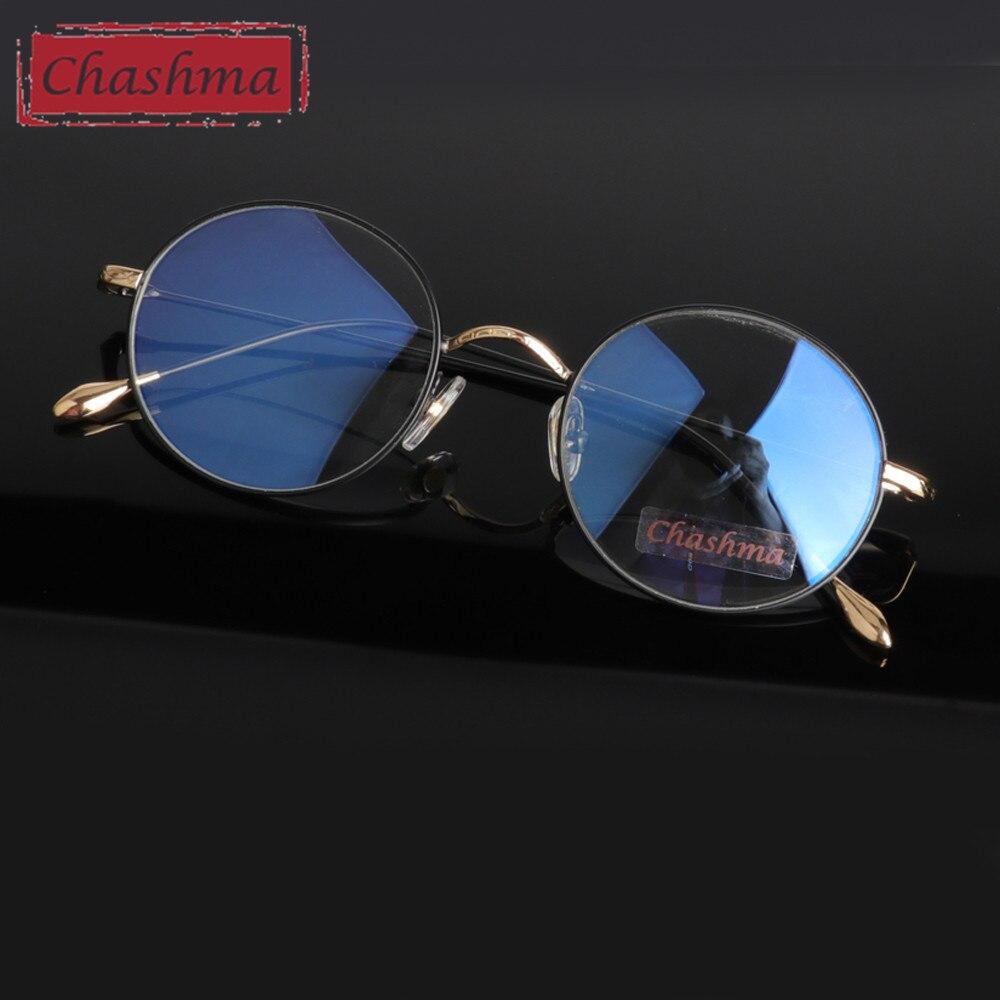 ჩაშმას ბრენდი Vintage Anti Blue Ray Anti Reflective Glass, კომპიუტერის სამუშაო მრგვალი წრის სათვალეების ჩარჩოების საწინააღმდეგო გამოსხივებისათვის