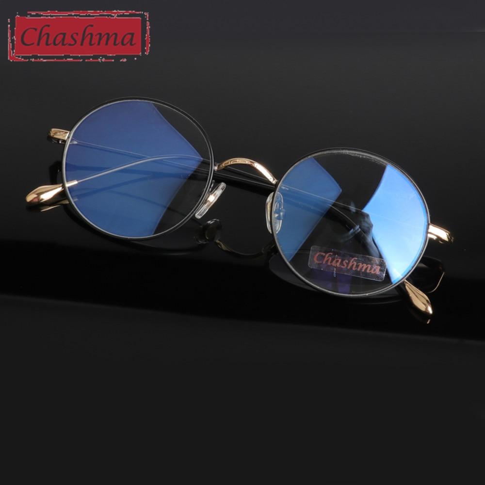 Chashma Marka Vintage Anti Blue Ray Okulary antyrefleksyjne do pracy w komputerze Okrągłe okulary Circle Frame Anti Radiation