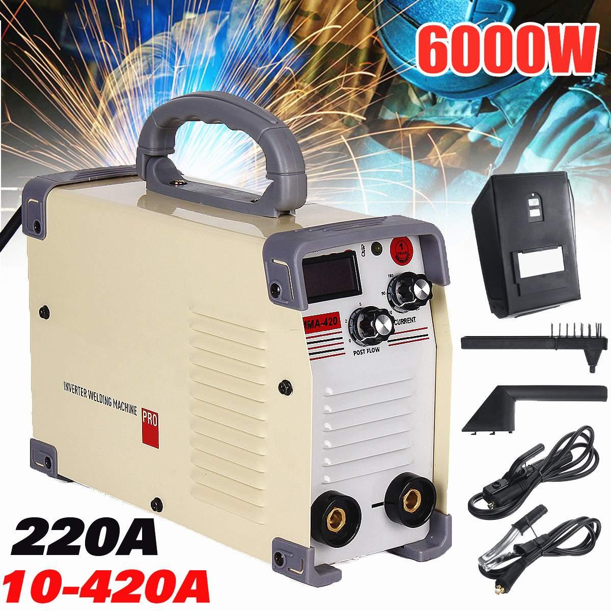 220 V AC 10-420A Handheld Mini MMA DC Inverter-schweißgerät Für Schweißen Arbeits Zubehör Schweißer Inverter Maschine Werkzeug Heißer
