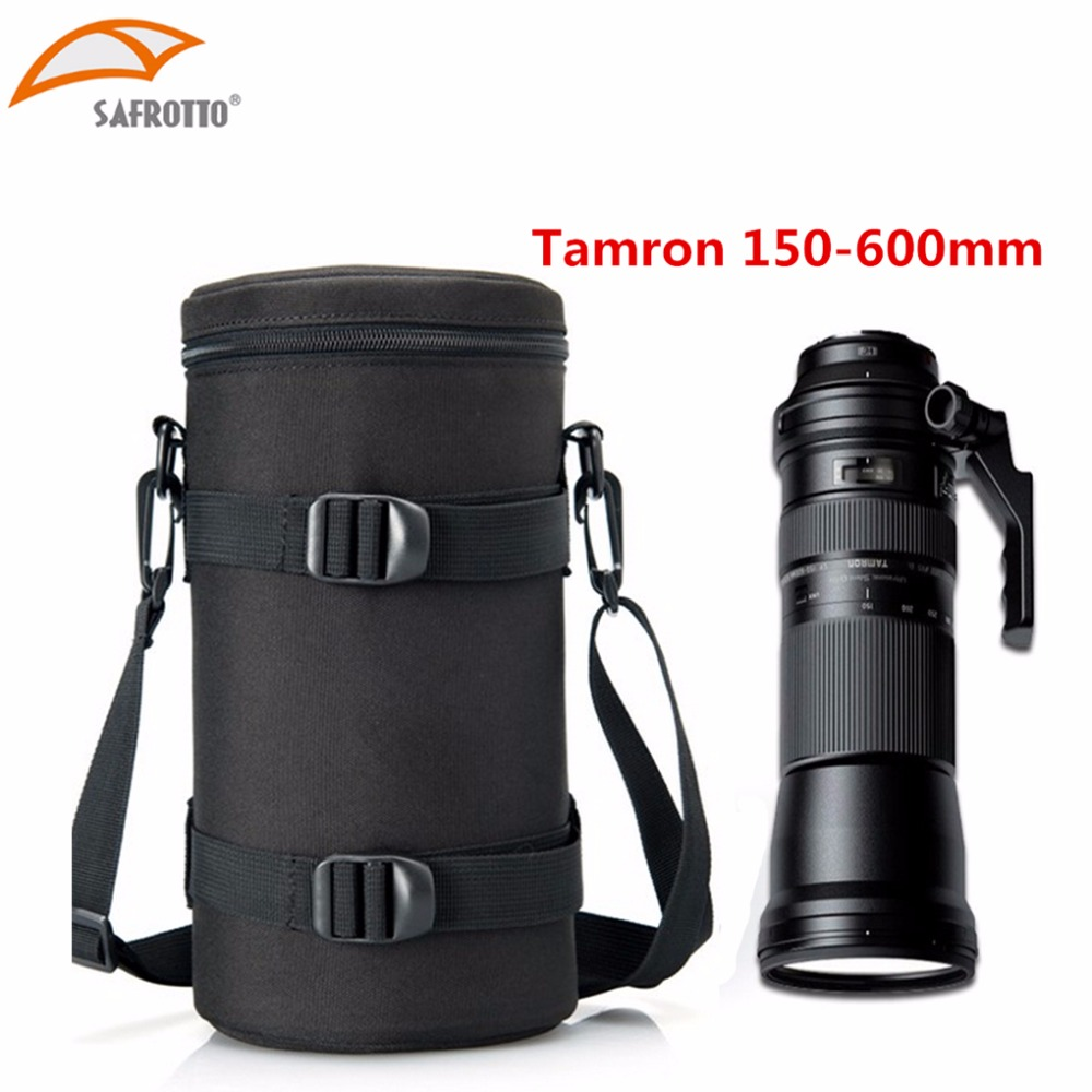 лучшая цена Safrotto 13x29.5cm Camera Lens Case Lens Pouch Bag for TAMRON 150-600mm , Nikon 200-500mm and Sigma 150-600mm f5-6.3 lens