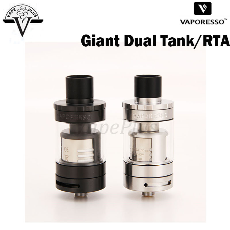 Original Vaporesso Giant Dual Tank RTA 4ml with CCELL Triple Coil and RTA Building Deck Atomizer