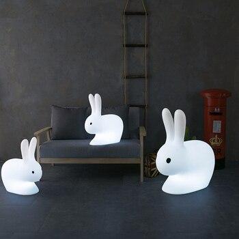 Креативный светодиодный ночник с дистанционным управлением, перезаряжаемый светильник, табурет с изображением кролика, Классический мага...
