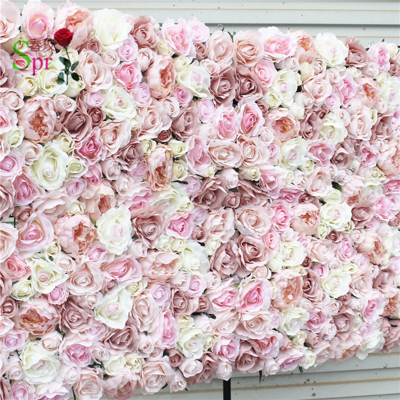 SPR Free Shipping 10pcs lot Artificial wedding rose flower wall background arrangement best wedding decoration ever