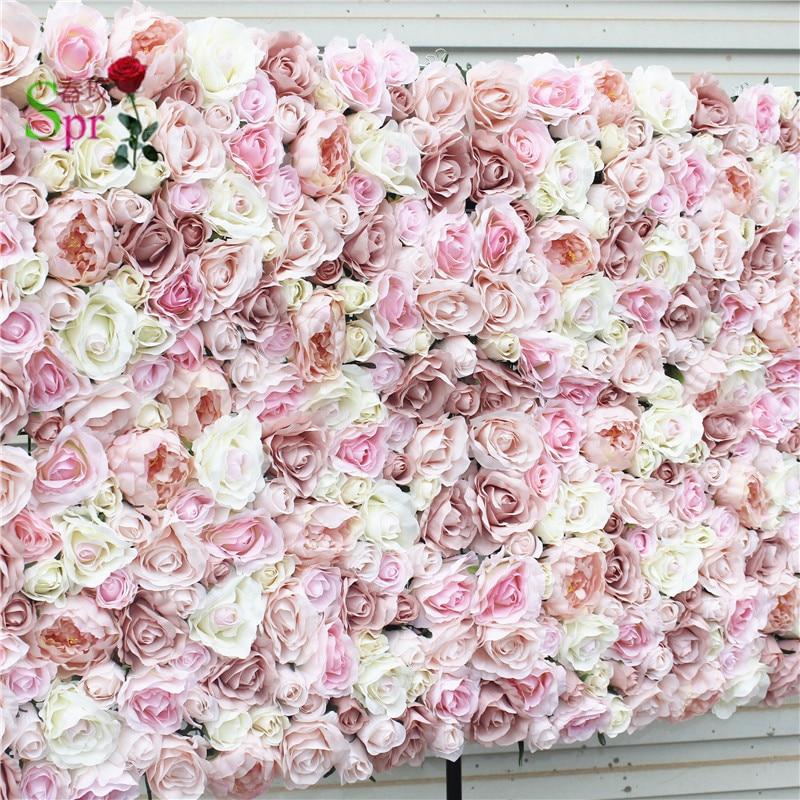 SPR darmowa Shipping 10pcs/lot sztuczny ślub róża kwiat tle ściany układ najlepsze dekoracje ślubne kiedykolwiek w Sztuczne i zasuszone kwiaty od Dom i ogród na  Grupa 1