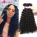 7А Необработанные Индийский Девственные Волосы Глубоко Вьющиеся 4 Связки Индийский Глубоко Вьющиеся Дева Наращивание Волос Девы Человеческих Волос, Плетение