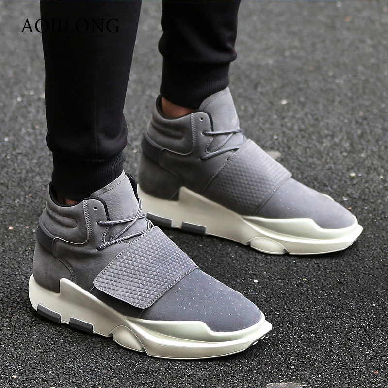 Men Shoes Casual Winter Warm High Top Sport Waking Shoes Suede Leather Fur Boots Mens Trainers Superstar Basket Zapatillas Black famosa игровой набор с куклой нэнси