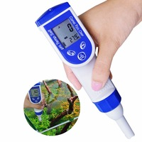 Digital Pen Tester pH EC TDS Salinity Temperature ORP Water Quality Combo 6 in 1 Meter IP57 Waterproof w/ ATC