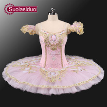 Pink Fairy Classical Ballet Tutu  Girls Platter Professional Adult Performance Pancake Costume SD0001