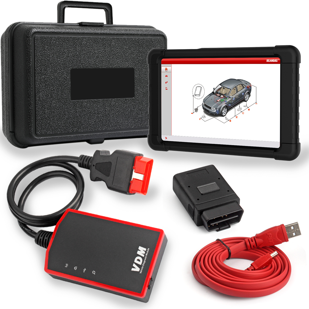UCANDAS VDM V3 9 Full font b System b font Professional OBDII Automotive Scanner ECU ABS